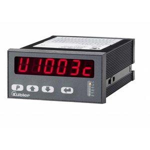 Kübler Codix 6.572.0116 karakters, 24VAC/17-30V DC-in.D95 LED Totaalteller 4 toetsen, 6 karakters, 24VAC/17-30V DC-in, RS422/TTL/HTL telleringang