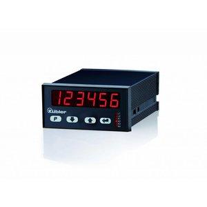 Kübler Codix 6.572.0116.D05 LED Totaalteller 4 toetsen, 6 karakters, 24VAC/17-30V DC-in, RS422/TTL/HTL telleringang, 4 transistor uitgangen