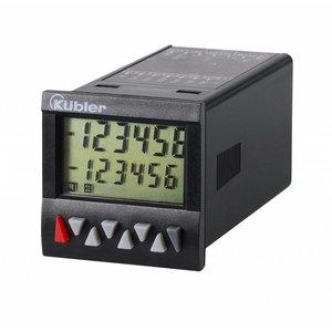 Kübler Codix 6.923.0100.300,, multifunctionele preset (1) teller, LCD zonder backlight, voor frequentie, snelheid, tijd en hoeveelheid