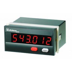 Kübler Codix 6.543.011.0A0 LED Timer (s,min,h of h.min.s), 100-240V AC-in, standaard HTL ingang, met optocoupler uitgang