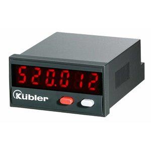 Kübler Codix 6.520.012.3A0 LED Totaalteller met reset (zonder scaler), 10-30VDC-in