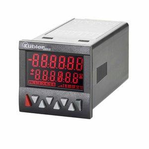 Kübler Codix 6.924.0112.300 LCD teller met 2 voorinstellingen, 10-30 VDC-in, negatief rood backlight