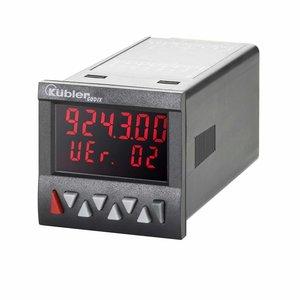 Kübler Codix 6.924.0102.000 LCD teller met 2 voorinstellingen, 100-240 V AC-in, negatief rood
