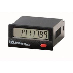 Kübler Codix 6.135.012.853 LCD Urenteller,batterij gevoed,  99999 h 59 min 59 sec of 9999999.9 s, 10...260 VAC/DC ingang