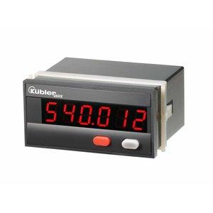 Kübler Codix 6.540.012.000 LED Totaalteller met reset (zonder scaler), 100 - 240 V AC, ±10 %, ingang standaard HTL, met voltage uitgang voor sensors