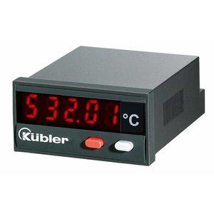 Kübler Codix 6.532.012.300 temperatuurdisplay, J / K en N thermokoppels. 10-30VDC-in