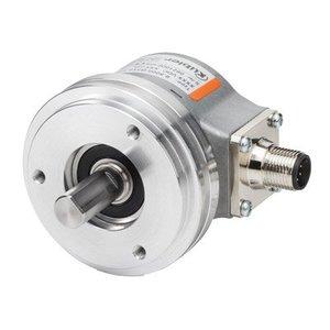Kübler Sendix 8.5000.7344.0200 incremental encoder, Ø58mm clamping flange, Ø10x20mm shaft, IP67, RS422 5VDC, M12-8pin connector, 200 pulses