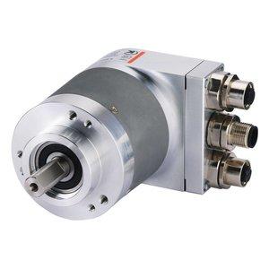 Kübler Sendix 8.5868.2132.3112 absolute multiturn encoder, Ø58mm synchronous flange IP65, Ø6x10mm shaft, Profibus DP V0 / profile V1.1 10-30VDC, max. 16 bit ST / 12bit MT, 3xM12-4pin connector, without set button