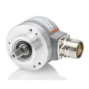 Kübler Sendix 8.5853.1226.G723 encoder absolute Multiturn SSI, Ø58mm clamp flange IP65, Ø10x20mm shaft, SSI Gray code 10-30VDC, 17bit SingleTurn / 12bit MultiTurn + set button, M12-8pin connector