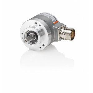 Kübler Sendix 8.5863.3224.G323 encoder absoluut Multiturn SSI, Ø58mm klemflens IP67, Ø10x20mm as, SSI Gray code 10-30VDC, 13bit SingleTurn/12bit MultiTurn + setknop, M23-12pin connector