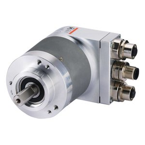 Kübler Sendix 8.5868.12C2.C212 encoder absoluut Multiturn Profinet, Ø58mm klemflens IP65, Ø10x20mm as, Profinet 10-30VDC, max. 16 bit SingleTurn/ 12bit MultiTurn, 3xM12-4pin connectoren