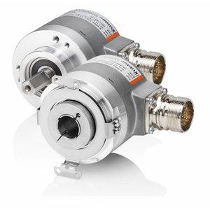 Kübler Sendix 8.5020.3822.0500 incremental encoder, Ø58mm flange with torquestop, Ø15mm hollow shaft, IP67, Push-Pull 5-30VDC, M12-8pin connector, 500 pulses