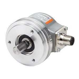 Kübler Sendix 8.5000.8358.1000 incremental encoder, Ø58mm clamping flange, Ø10x20mm output shaft, IP65, Push-Pull 10-30VDC, M23-12pin connector, 1000 pulses