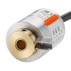 Kübler Sendix 8.2440.1262.0256 incrementele encoder, Ø24mm flens,  Ø6mm holle as, RS422 5VDC, 2 meter kabel radiaal uit, 256 pulsen