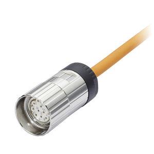 Kübler M23 - 12 pin connector met 5 m PVC kabel