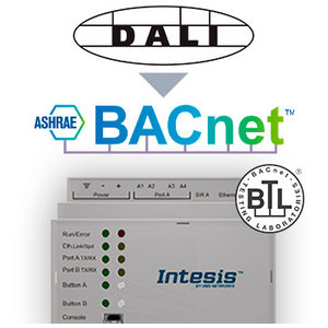 Intesis DALI naar BACnet IP- en MS/TP server gateway INBACDAL0640000 - 64 devices
