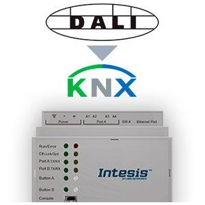 Intesis DALI / DALI-2 naar KNX TP-gateway INKNXDAL0640000 64 devices