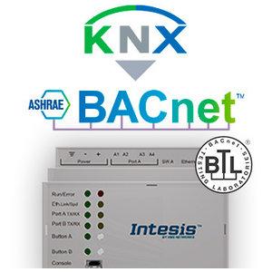 Intesis KNX TP to BACnet IP & MS/TP gateway INBACKNX1000000 - 100 data points