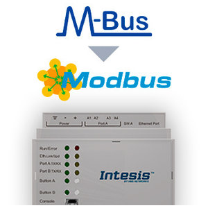 Intesis M-Bus naar Modbus TCP & RTU-gateway INMBSMEB0200000 - 20 devices