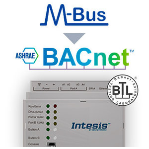 Intesis M-Bus naar BACnet IP & MS / TP-gateway INBACMEB1200000 - 120 devices