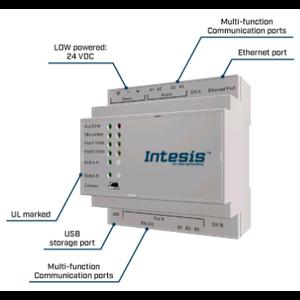 Intesis Modbus TCP/RTU to BACnet IP & MS/TP server gateway  INBACMBM3K00000- 3000 points