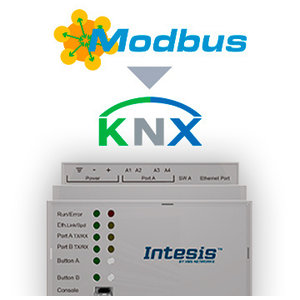 Intesis Modbus TCP/RTU naar KNX TP-gateway INKNXMBM1K20000 - 1200 data punten