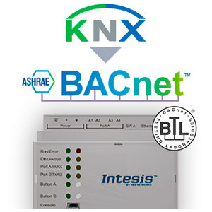 Intesis KNX TP naar BACnet IP & MS/TP gateway INBACKNX3K00000 - 3000 data punten