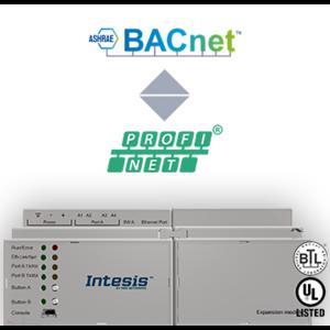 Intesis Profinet - BACnet IP & MS/TP servergateway INBACPRT1K20000 - 1200 datapunten