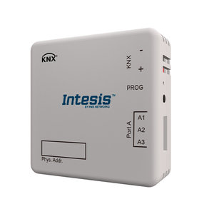 Intesis Modbus RTU master to KNX TP gateway INKNXMBM1000100 - 100 points