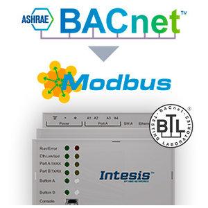 Intesis BACnet naar Modbus-gateway INMBSBAC3K00000- 3000 punten