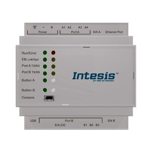 Intesis BACnet IP & MS/TP naar KNX TP-gateway INKNXBAC1000000 - 100 datapunten