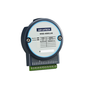 Advantech WISE-4060/LAN, 4-channel Digital Input and 4-channel Relay IoT Ethernet I/O Module