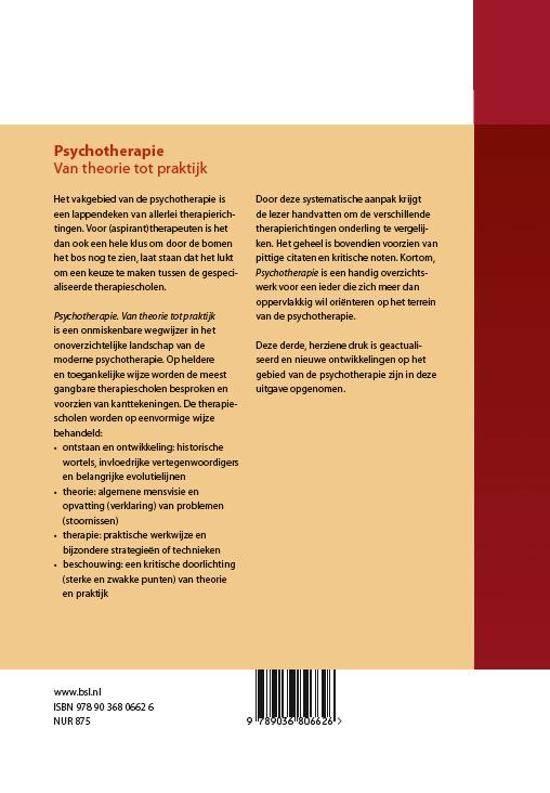 Psychotherapie van theorie tot praktijk