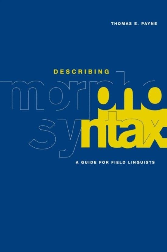 Describing Morphosyntax