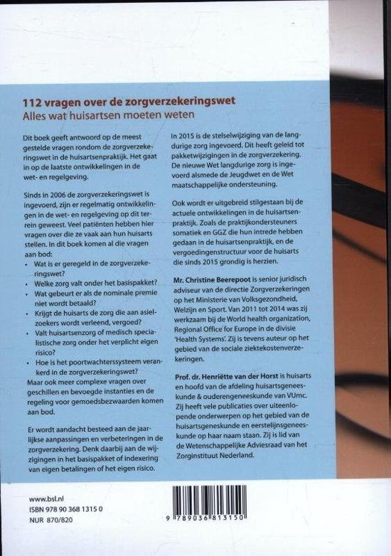 112 vragen over de zorgverzekeringswet druk 2016