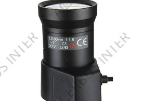 "FOCO HD3000 6-60mm, F1.6, DC, CS 1/3"""
