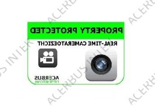 Sticker Camera bewaking (spiegelbeeld)