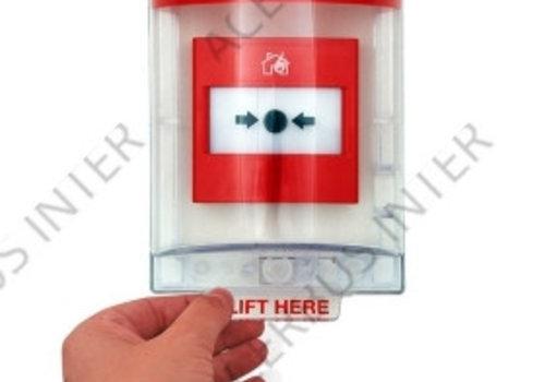 Afdekkap voor handbrandmelder, opbouw incl. sirene