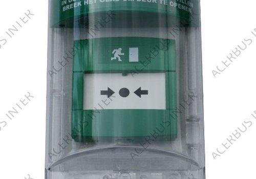 Afdekkap voor handmelder groen, opbouw  excl. sirene