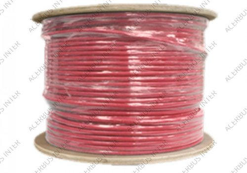 YR-mb 2x0,8 mm rood  500 mtr HASPEL