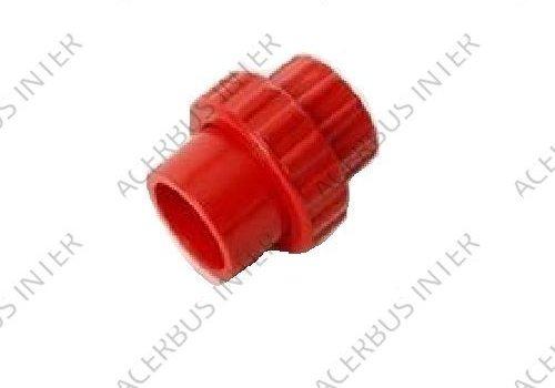 Deelbare schroefkoppeling 25mm rood (10-pak)
