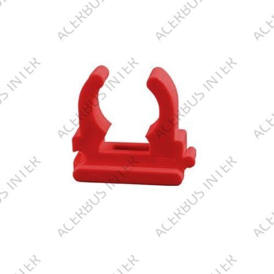 Bevestigingsclip buis (25-27mm) rood (10-pak)