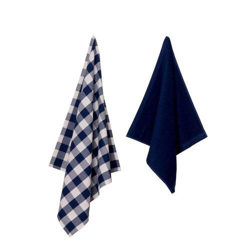 Set Keukentexiel Uni - Blauw