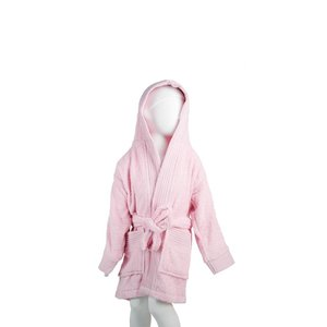 The One Towelling  Kinder Badjas - Light Pink