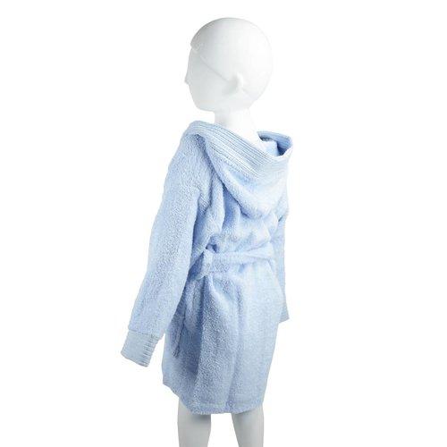 The One Towelling  Kinder Badjas - Light blue