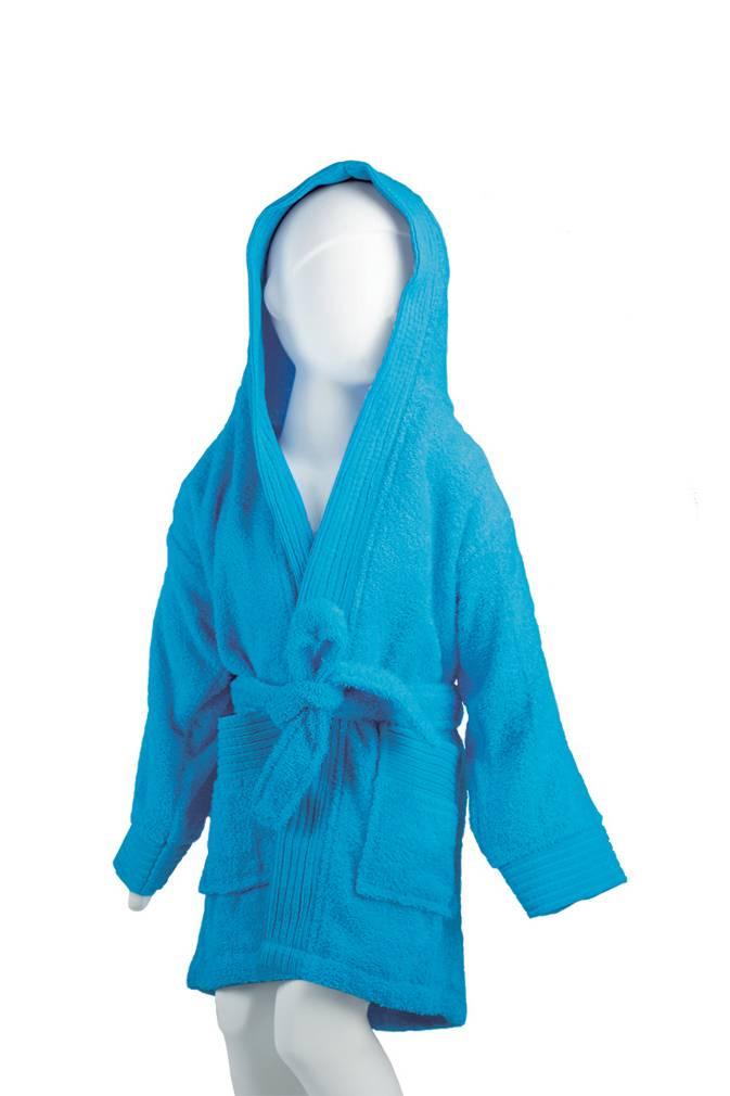 894f33bbd4f Kinder Badjas - Turquoise - Handdoeken-Discounter.nl