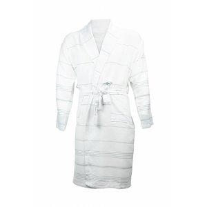 The One Towelling  Hamam badjas - White / Grey