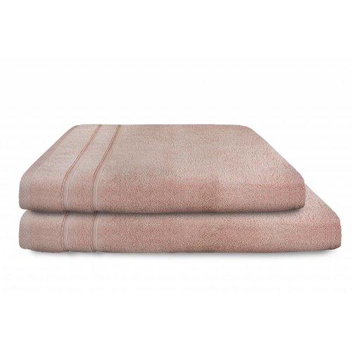 The One Towelling  Handdoek - Zero Twist - Zalm roze