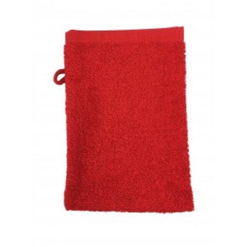 The One Towelling  Washandje - Rood - 16x21 cm