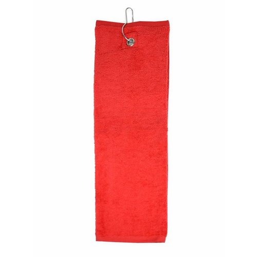 The One Towelling  Golf Handdoek - Rood